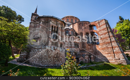 Chora Church stock photo, Exterior of Chora Church in Istanbul Turkey by Scott Griessel