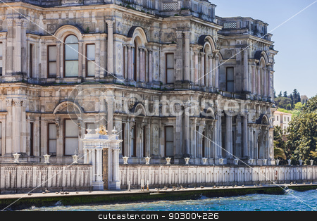 Beylerbeyi Palace stock photo, Beylerbeyi Palace along the Bosphorus Strait in Istanbul by Scott Griessel