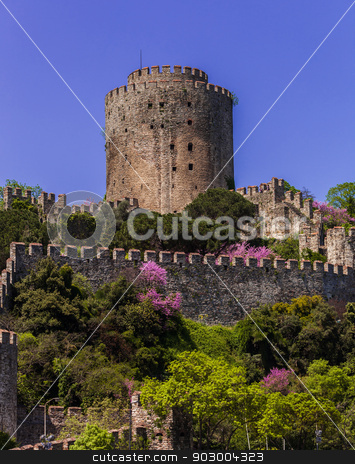 Rumelian Castle stock photo, Rumelian Castle along the Bosphorus in istanbul by Scott Griessel