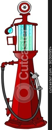 Antique gasoline pump stock photo, This illustration depicts an antique gasoline pump. by Dennis Cox