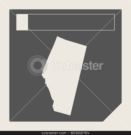 Alberta state in Canada stock photo,  Alberta state in Canada responsive flat web design map button isolated with clipping path. by Martin Crowdy
