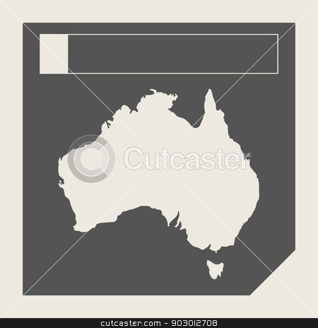 Australia map button stock photo, Australia map button in responsive flat web design isolated with clipping path. by Martin Crowdy