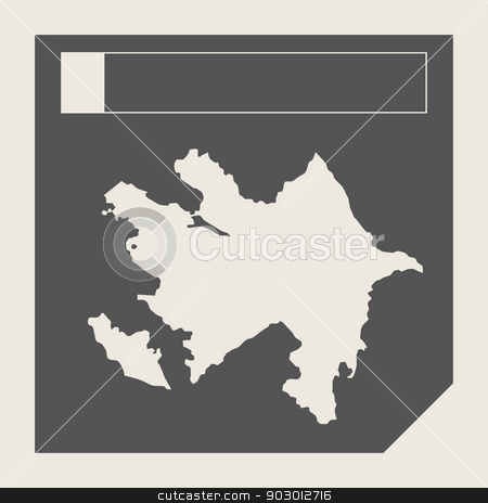 Azerbaijan map button stock photo, Azerbaijan map button in responsive flat web design map button isolated with clipping path. by Martin Crowdy