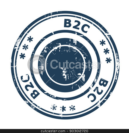 B2C concept stamp stock photo, B2C concept stamp concept stamp isolated on a white background. by Martin Crowdy