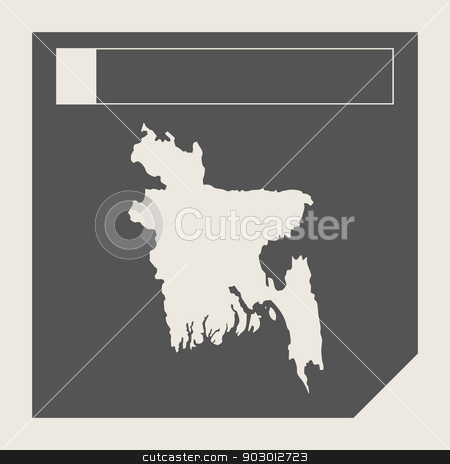 Bangladesh map button stock photo, Bangladesh map button in responsive flat web design map button isolated with clipping path. by Martin Crowdy