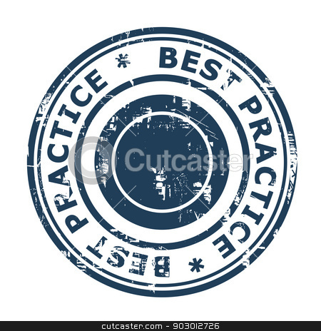 Best Practice concept stamp stock photo, Best Practice concept stamp isolated on a white background. by Martin Crowdy