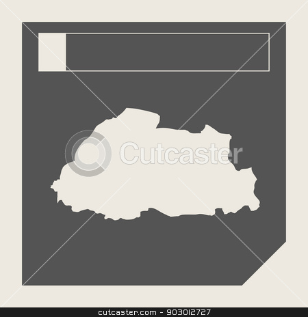 Bhutan map button stock photo, Bhutan map button in responsive flat web design map button isolated with clipping path. by Martin Crowdy