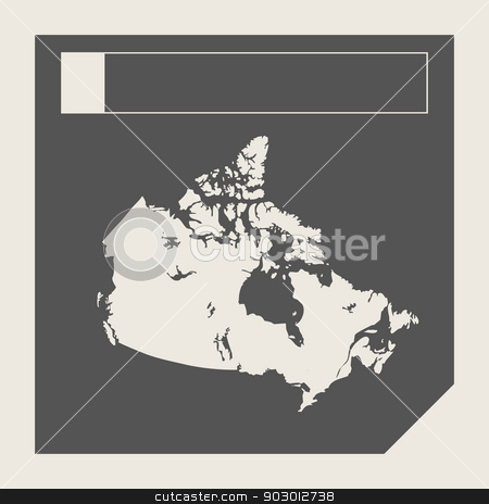Canada button stock photo, Canada map responsive flat web design button isolated with clipping path. by Martin Crowdy