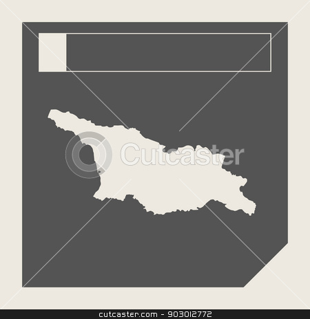 Georgia map button stock photo, Georgia map button in responsive flat web design map button isolated with clipping path. by Martin Crowdy