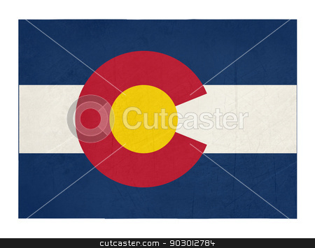 Grunge state of Colorado flag map stock photo, Grunge state of Colorado flag map isolated on a white background, U.S.A.  by Martin Crowdy