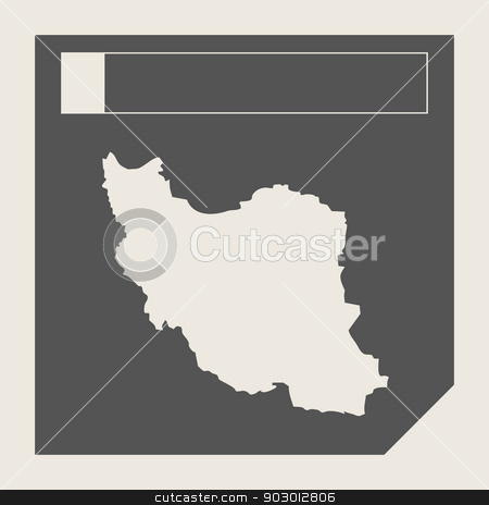 Iran map button stock photo, Iran map button in responsive flat web design map button isolated with clipping path. by Martin Crowdy