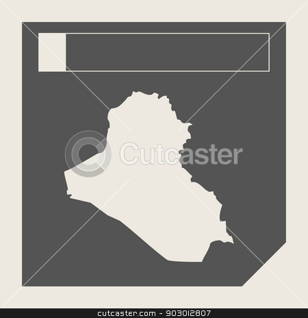 Iraq map button stock photo, Iraq map button in responsive flat web design map button isolated with clipping path. by Martin Crowdy
