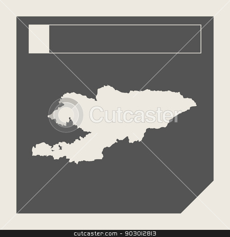 Kyrgyzstan map button stock photo, Kyrgyzstan map button in responsive flat web design map button isolated with clipping path. by Martin Crowdy