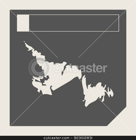 Newfoundland state in Canada stock photo, Newfoundland state in Canada responsive flat web design map button isolated with clipping path. by Martin Crowdy