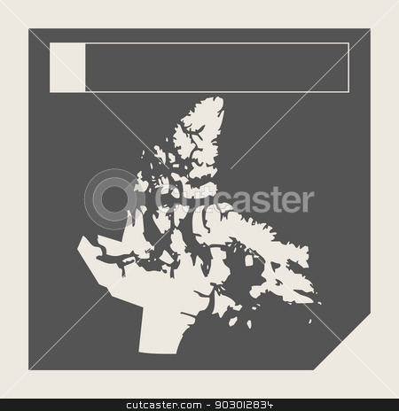Nunavut state in Canada stock photo, Nunavut state in Canada responsive flat web design map button isolated with clipping path. by Martin Crowdy
