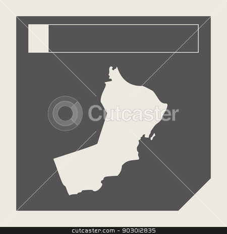 Oman map button stock photo, Oman map button in responsive flat web design map button isolated with clipping path. by Martin Crowdy