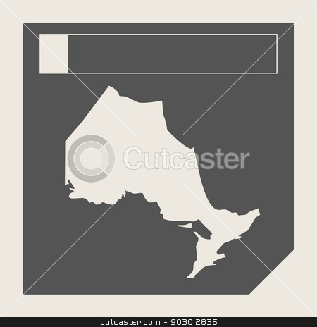 Ontario state in Canada stock photo, Ontario state in Canada responsive flat web design map button isolated with clipping path. by Martin Crowdy