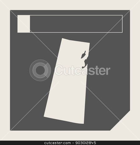 Saskatchewan state in Canada stock photo, Saskatchewan state in Canada responsive flat web design map button isolated with clipping path. by Martin Crowdy