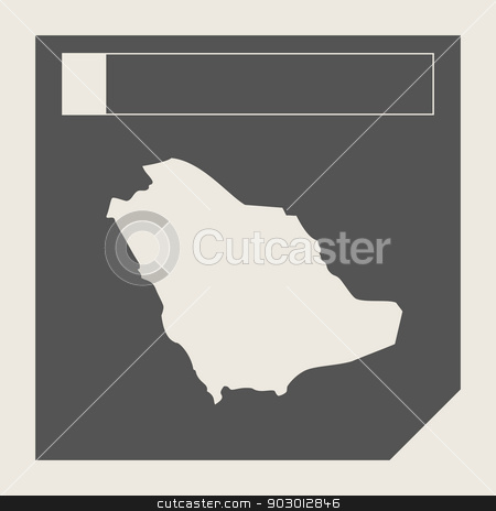 Saudi Arabia map button stock photo, Saudi Arabia map button in responsive flat web design map button isolated with clipping path. by Martin Crowdy