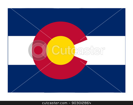 State of Colorado flag map stock photo, State of Colorado flag map isolated on a white background, U.S.A.  by Martin Crowdy