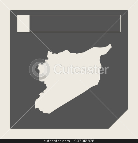 Syria map button stock photo, Syria map button in responsive flat web design map button isolated with clipping path. by Martin Crowdy