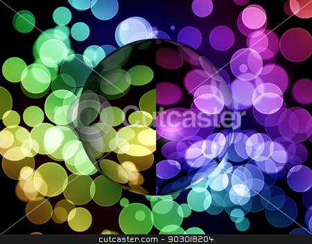 Abstract Globe stock photo, Multi color globe with shadow on vibrant background. by Henrik Lehnerer