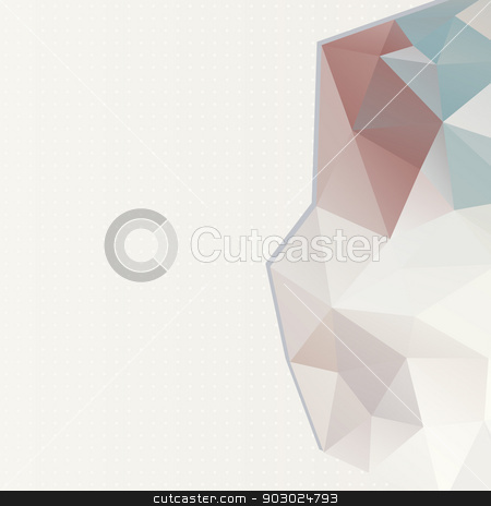 Triangle pattern background stock vector clipart, light color background from triangle. place your text top. by LittleCuckoo
