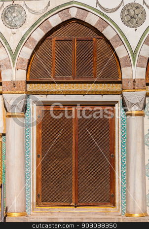 Turkish Window Screens stock photo, Turkish Window Screens from Ottoman Era Building by Scott Griessel