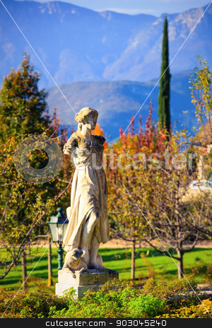 Italian Style stock photo, Fragment of italian architectural style against Alps by Natalia Macheda