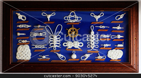 A decorative collection of marine knots stock photo, A decorative collection of marine knots by Natalia Macheda