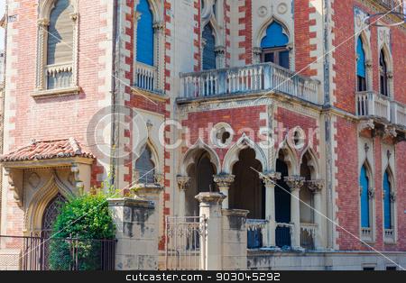 Villa Zerbi in Reggio Calabria stock photo, Fragment of Villa Genoese Zerbi in Reggio Calabria by Natalia Macheda