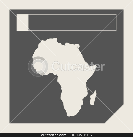 Africa map button stock photo, Africa map button in responsive flat web design map button isolated with clipping path. by Martin Crowdy