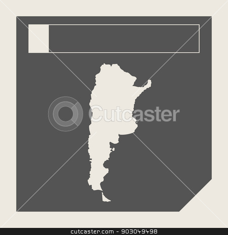 Argentina map button stock photo, Argentina map button in responsive flat web design map button isolated with clipping path. by Martin Crowdy
