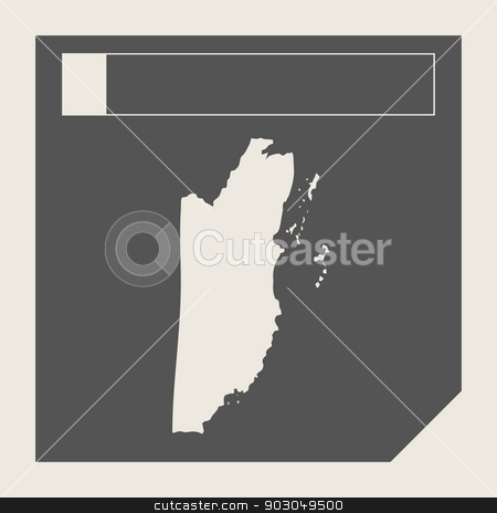 Belize map button stock photo, Belize map button in responsive flat web design map button isolated with clipping path. by Martin Crowdy