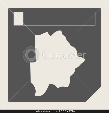 Botswana map button stock photo, Botswana map button in responsive flat web design map button isolated with clipping path. by Martin Crowdy