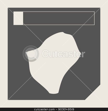 Burundi map button stock photo, Burundi map button in responsive flat web design map button isolated with clipping path. by Martin Crowdy
