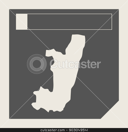 Congo map button stock photo, Congo map button in responsive flat web design map button isolated with clipping path. by Martin Crowdy