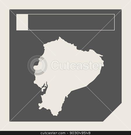 Ecuador map button stock photo, Ecuador map button in responsive flat web design map button isolated with clipping path. by Martin Crowdy