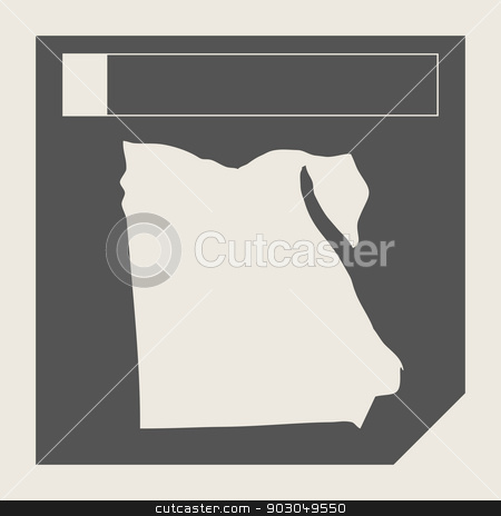 Egypt map button stock photo, Egypt map button in responsive flat web design map button isolated with clipping path. by Martin Crowdy