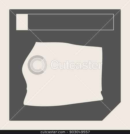 Equatorial Guinea map button stock photo, Equatorial Guinea map button in responsive flat web design map button isolated with clipping path. by Martin Crowdy