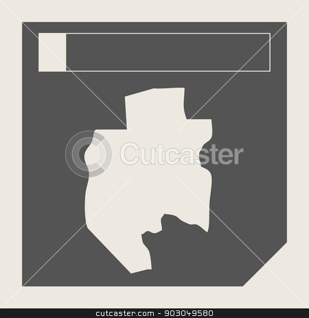 Gabon map button stock photo, Gabon map button in responsive flat web design map button isolated with clipping path. by Martin Crowdy