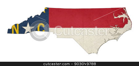 Grunge state of North Carolina flag map stock photo, Grunge state of North Carolina flag map isolated on a white background, U.S.A. by Martin Crowdy