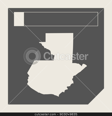 Guatemala map button stock photo, Guatemala map button in responsive flat web design map button isolated with clipping path. by Martin Crowdy