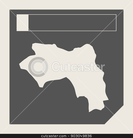 Guinea map button stock photo, Guinea map button in responsive flat web design map button isolated with clipping path. by Martin Crowdy