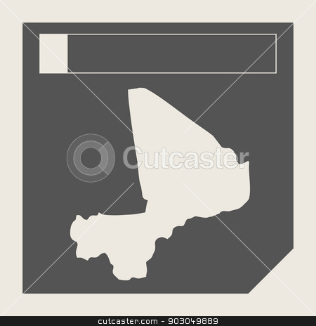 Mali map button stock photo, Mali map button in responsive flat web design map button isolated with clipping path. by Martin Crowdy