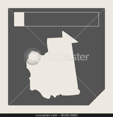 Mauritania map button stock photo, Mauritania map button in responsive flat web design map button isolated with clipping path. by Martin Crowdy