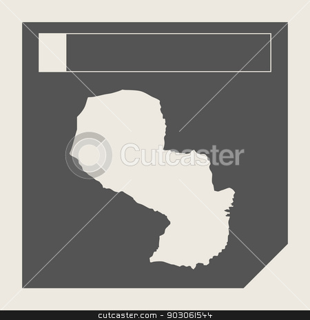 Paraguay map button stock photo, Paraguay map button in responsive flat web design map button isolated with clipping path. by Martin Crowdy