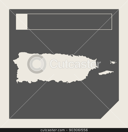 Puerto Rico map button stock photo, Puerto Rico map button in responsive flat web design map button isolated with clipping path. by Martin Crowdy