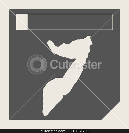 Somalia map button stock photo, Somalia map button in responsive flat web design map button isolated with clipping path. by Martin Crowdy