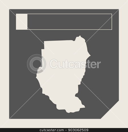 Sudan map button stock photo, Sudan map button in responsive flat web design map button isolated with clipping path. by Martin Crowdy